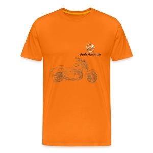 Daelim Daystar Zeichnung auf TShirt (mit Logo und Forum-URL) - Männer Premium T-Shirt