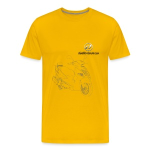 Daelim Otello Zeichnung auf TShirt (mit Logo und Forum-URL) - Männer Premium T-Shirt