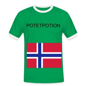 Potetpotion T-Skjorte for menn - Kontrast-T-skjorte for menn