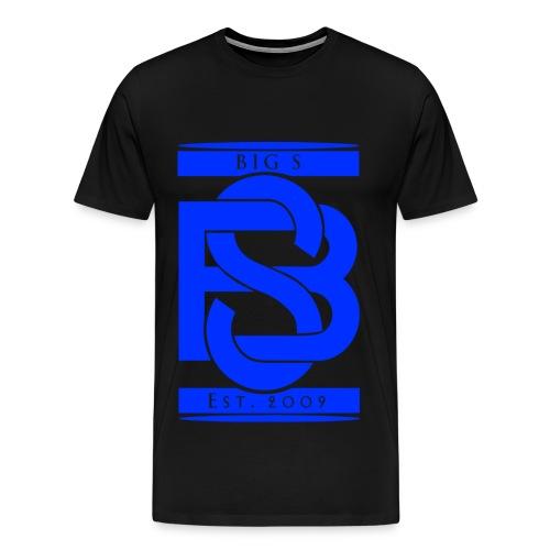 Big S Blue Logo Shirt - Männer Premium T-Shirt