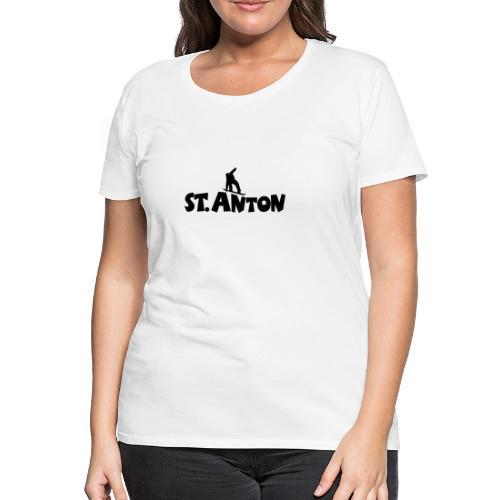 St. Anton Snowboard T-Shirt (Damen Weiß/Schwarz) - Frauen Premium T-Shirt