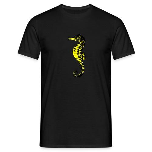hippocampe noir et or - T-shirt Homme
