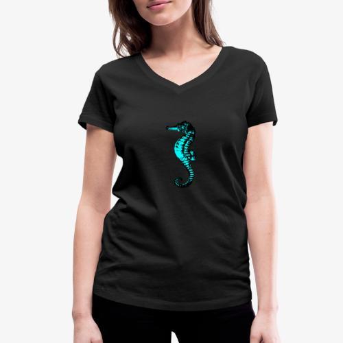 hippocampe turquoise - T-shirt bio col V Stanley & Stella Femme