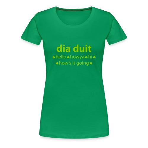 Irish Hello Ladies T-Shirt - Women's Premium T-Shirt