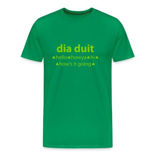 Irish Hello - Men's Premium T-Shirt