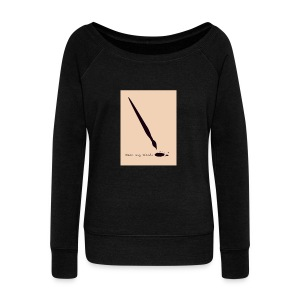 Wear My Words Sweater - Women's Boat Neck Long Sleeve Top