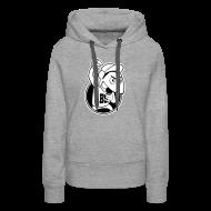 Pullover & Hoodies ~ Frauen Premium Kapuzenpullover ~ Pop(p)in` Poetry - Poetry Slam - Logo