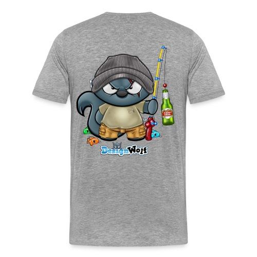 Fishing Wolf - Men's Premium T-Shirt