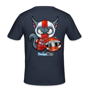 Racing Wolf - Men's Slim Fit T-Shirt