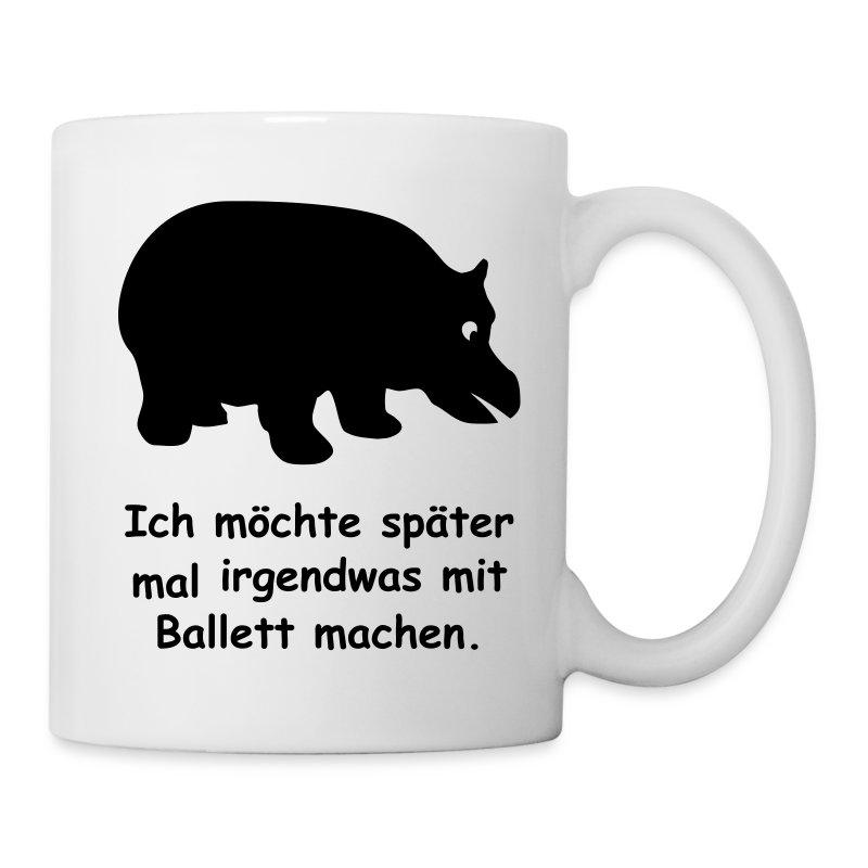 nilpferd ballett hippo ballerina t nzer tasse spreadshirt. Black Bedroom Furniture Sets. Home Design Ideas