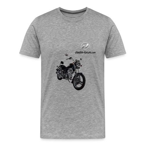 Daelim VS gezeichnetes Modell auf TShirt (mit Logo und Forum-URL) - Männer Premium T-Shirt