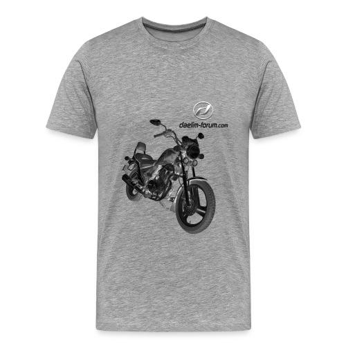 Daelim VS Modell auf TShirt (mit Logo und Forum-URL) - Männer Premium T-Shirt