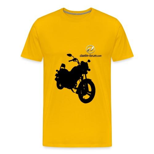 Daelim VS Schattenriss auf TShirt (mit Logo und Forum-URL) - Männer Premium T-Shirt