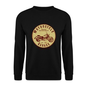 Biker Sweat-Shirt | Motorcycle Garage (wine-red) - Männer Pullover