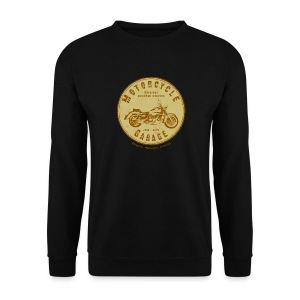 Biker Sweat-Shirt | Motorcycle Garage (brown) - Männer Pullover