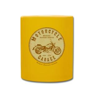 Biker Kaffee-Tasse | Motorcycle Garage (brown) - Tasse einfarbig