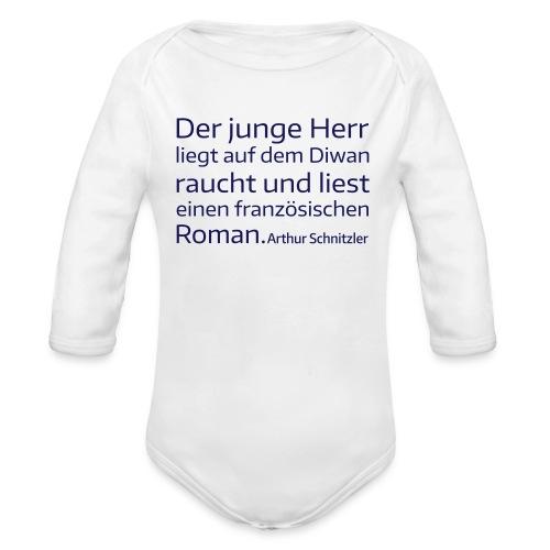 Der junge Herr - Baby Bio-Langarm-Body