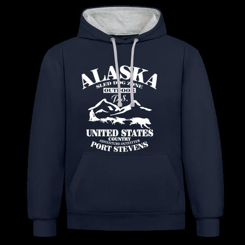 Sled Dog - Alaska - Kontrast-Hoodie