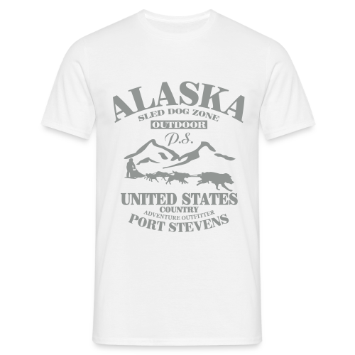 Sled Dog - Alaska - Männer T-Shirt