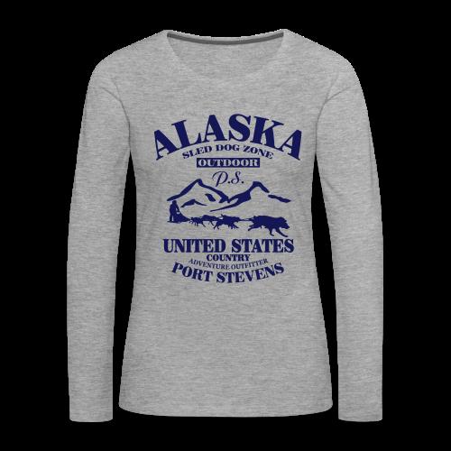 Sled Dog - Alaska - Frauen Premium Langarmshirt
