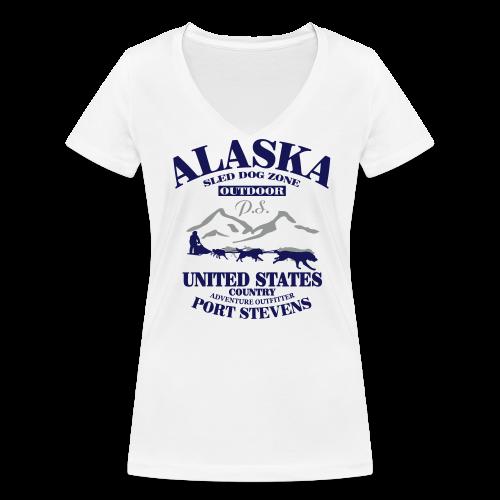 Sled Dog - Alaska - Frauen Bio-T-Shirt mit V-Ausschnitt von Stanley & Stella