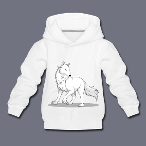 Kinder Kapuzenpullover mit Wolf - Kinder Premium Hoodie