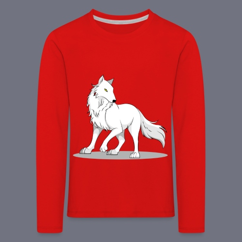 Kinder Langarmshirt mit Wolf - Kinder Premium Langarmshirt