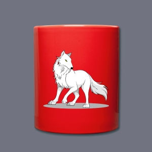 Tasse mit Wolf - Tasse einfarbig
