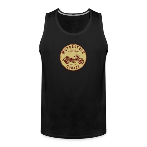 Biker Tank-Top | Motorcycle Garage - Männer Premium Tank Top