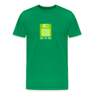T-Shirts ~ Men's Premium T-Shirt ~ Save The Save - Green Code