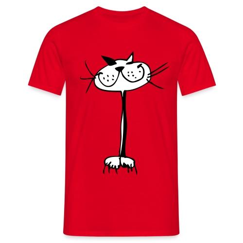 Katze Shirt digitaldruck - Männer T-Shirt