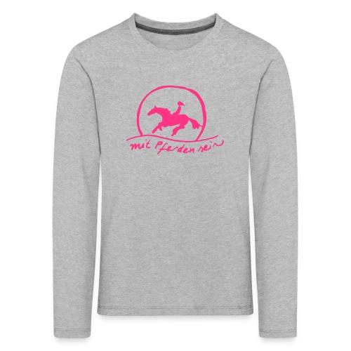 Sunset Rider - KIDS Longsleeve (Print: Neon Pink) - Kinder Premium Langarmshirt