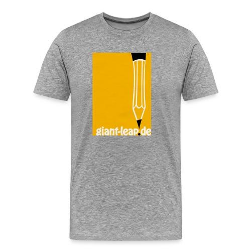 bleistift auf gelb - Männer Premium T-Shirt