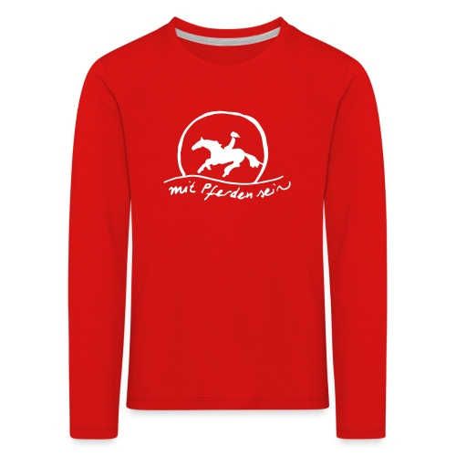 Sunset Rider - KIDS Longsleeve (Print: White) - Kinder Premium Langarmshirt