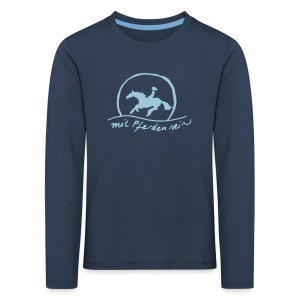 Sunset Rider - KIDS Longsleeve Blue in Blue (Print: Heavenly Blue -digital) - Kinder Premium Langarmshirt