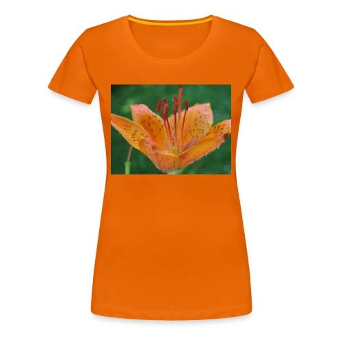 Frauen Premium T-Shirt - Blume,Feuerlilie,orange