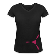 T-Shirts ~ Frauen T-Shirt mit V-Ausschnitt ~ yogasaram black essence no.4