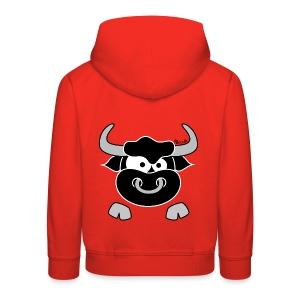Pull à capuche Enfant Tête Taureau, Bull, Force, Zodiaque - Pull à capuche Premium Enfant