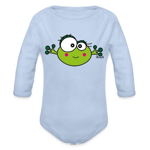 Body ml Bébé Grenouille F, Frog, nimalotshirts - Body bébé bio manches longues