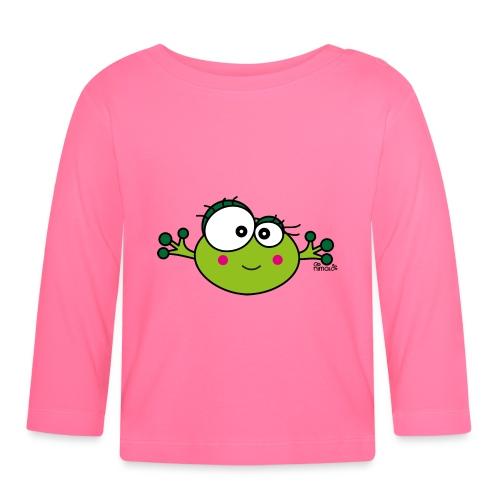 T-shirt ml bébé Grenouille F, Frog, nimalotshirts - T-shirt manches longues Bébé