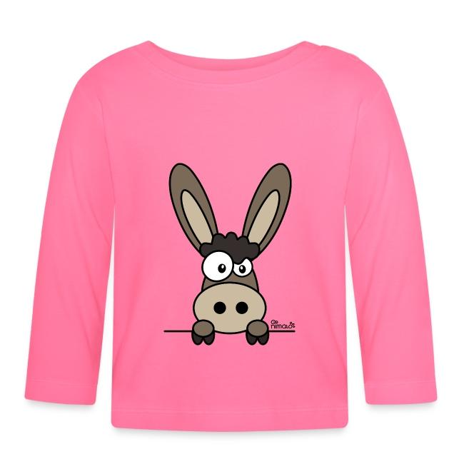 T-shirt manches longues Bébé. (29). Âne, Mule, Mulet, têtu, têtue, donkey,  ass, mulet, 72af69a151b5