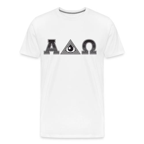ALPHA & OMEGA - Miesten premium t-paita