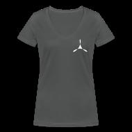 T-Shirts ~ Frauen T-Shirt mit V-Ausschnitt ~ yogasaram grey essence no.8
