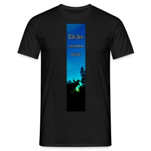 Riesen-Lesezeichen Elch - Männer T-Shirt