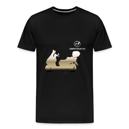 Daelim S3 Glanz auf TShirt (mit Logo und Forum-URL) - Männer Premium T-Shirt
