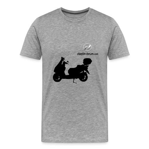 Daelim S3 Schattenriss auf TShirt (mit Logo und Forum-URL) - Männer Premium T-Shirt