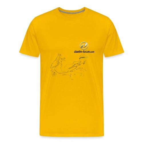 Daelim S3 Zeichnung auf TShirt (mit Logo und Forum-URL) - Männer Premium T-Shirt