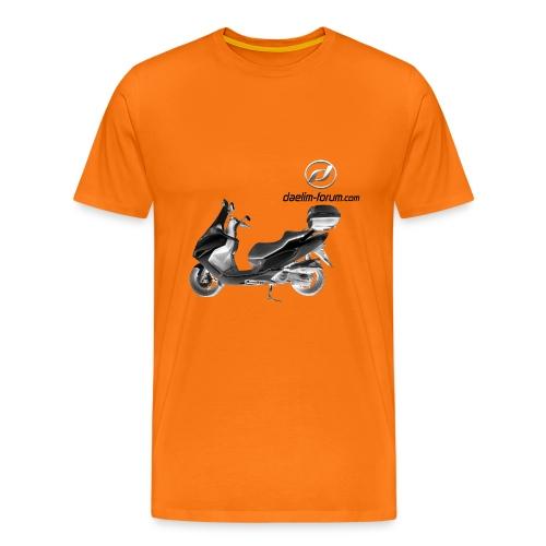 Daelim S3 Modell auf TShirt (mit Logo und Forum-URL) - Männer Premium T-Shirt