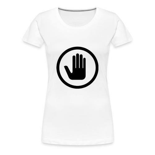 Nej till tiggare i sverige fram/bak-tryck TSHIRT DAM - Premium-T-shirt dam
