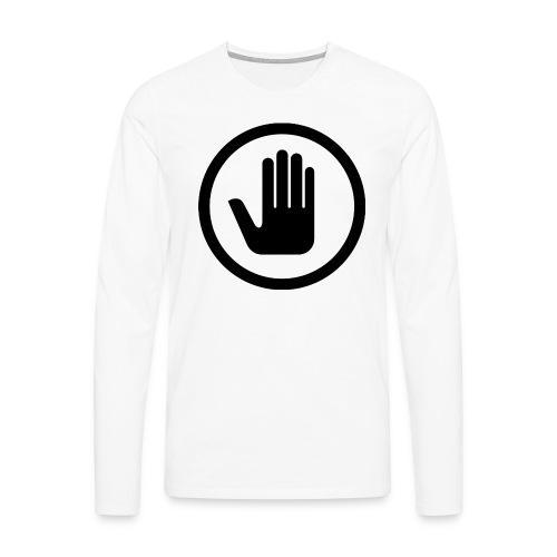 Nej till tiggare i sverige fram/bak-tryck Långärmad Tshirt - Långärmad premium-T-shirt herr
